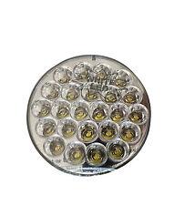 "4""Pearl Round WHITE (24 LED) Sealed Light - White LED w/ Clear Lens  SEMI TRUCK"