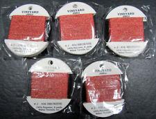 15xNeedlepoint/Embroidery THREAD WILTEX Vineyard Jewels metallic-Bronze-VS393