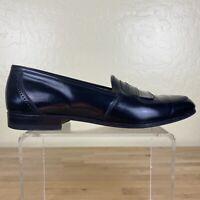 Bally Decca Kiltie Slip On Loafers Mens Size 9 D Black Leather