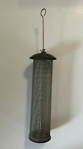"""Wild Bird Unlimited Thistle Screen Tube Bird Feeder Nyjer Seed Finch 18"""" Copper"""