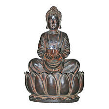 Lotus Flower of Buddha Sculptural Fountain w/ LED Lights & Pump