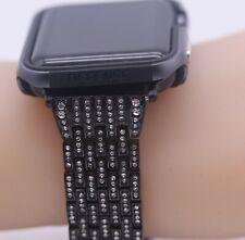JewelTech 1 - Women Apple Watch Strap  Zircon Studded - Woven Pattern