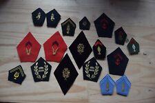 Lot insigne écusson militaire militaria uniforme Patte de Col Collet collection