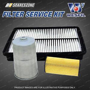 Wesfil Oil Air Fuel Filter Service Kit for Kia Sorento XM 2.2L CRDi 10/12-05/15