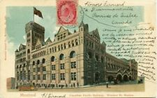 to FRANCE 1903 Montreal CPR Windsor Station Numeral issue Post Card Canada