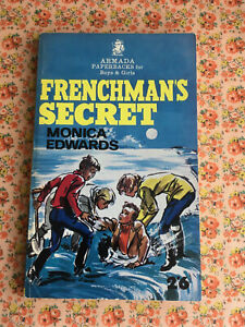 Vintage Paperback Frenchman's Secret Monica Edwards Treasure Adventure 1960s