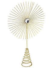 Gisela Graham Christmas Tree Topper Star Burst Large Gold Glitter Decoration