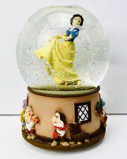 Disney Snow White & Seven Dwarfs Musical Snow Globe plays Waltz of the Flowers