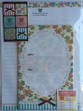 Kawaii Lolita Floral Cat Japanese Stationary Set with Stickers