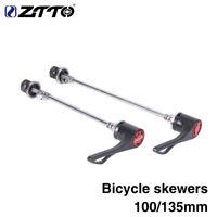 ZTTO 1Pair MTB Road Bike Screw QR Skewers 9mm 5mm Quick Release 100 135 Hub Axle