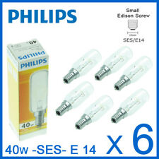 6x Cooker hob hood extractor light bulbs 40W E14 SES Small Edison Screw Philips
