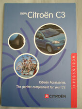Citroen C3 Accessories range brochure c2002