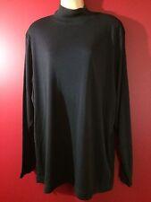 DESIGNS & CO by Lane Bryant Women's Dark Pine Mock Neck Shirt - Size 18/20 -NWT