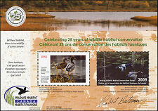 CANADA 2009  25TH ANNIVERSARY MINI SHEET by Robert Bateman. Limited Quantity