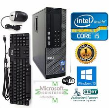 Dell Desktop Computer Intel Core i5 Windows 10 pro 32 750gb 3.40ghz 4gb Ram