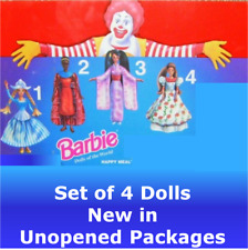 McDonald's 1996 1997 Barbie Dolls of the World #1-4 Dutch Kenyan Japanese Mexico