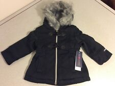 18M Limited Too Girls Quilted Fleece Coat 18 Month Black Coat Jacket Cute New