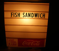 VINTAGE ADVERTISING THINGS GO BETTER W/ COKE COCA COLA STORE SIGN FISH SANDWICH