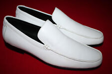 Calvin Klein White ROBERT NAPPA Leather Dress Loafer, F0620, White, WORN ONCE!