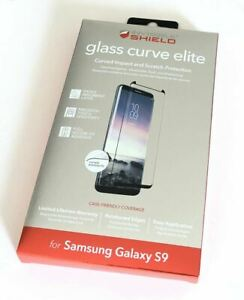 ZAGG Glass Contour Curve Elite Screen Protector for Samsung Galaxy S9  Brand New