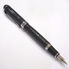 Jinhao X750 Glitter Black Fountain Pen, Zebra G Flex Nib Calligraphy - UK SOLD!