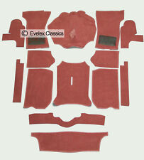 TRIUMPH SPITFIRE MK1/2/3/4 1500 NEW CARRELLI CARPET SET IN DAMASK RED OE QUALITY