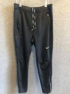 Men's Nike Dri-Fit Running Jogger Pants Black Sweatpants Size M Tapered Leg