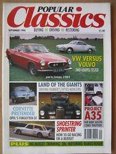 Popular Classics September 1990 Humber Pullman Imperial Opel GT Karmann Ghia