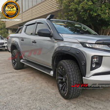 Black Fender Flares Wheel Arch Pocket Style Suit Mitsubishi Triton MR 2018+