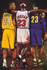 Michael Jordan Kobe Bryant & Lebron James Poster 24 x 36