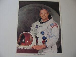 Neil Armstrong Hand-Signed Autographed WSS Portrait Litho/Photo w JSA COA NASA