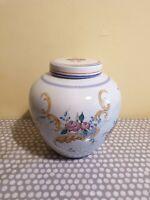 Vintage Carvalhinho Porto Portugal. Ginger Jar With Floral Decoration