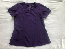Barco One scrub top Racer style 4 pockets Stretch purple Women's M Medical