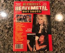 October 1990 Hit Paraders Heavy Metal Hotshots Magazine! Lita Ford Winger Poison