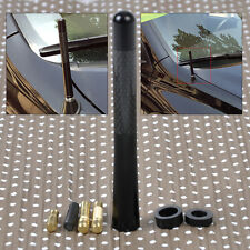 "HOTSALE 4.7"" Universal Alum Carbon Fiber Car AM/FM Radio Aerial Antenna + Screw"