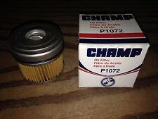Champ P1072 Oil Filter fits PF1072 CH3970 MO85 P140 L10085 51630 LF396 25012305