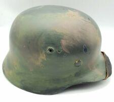 WW2 German M35 Camo Steel Helmet - High Quality Reproduction - Heer