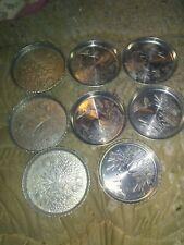 Lot Of 8 Aluminum Vintage Coasters 3 West Bend Oak Leaf And 5 Mallard Duck