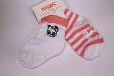 Gymboree Animal Party Girls Size 6-12 M Socks NEW Pack 2 Panda Bear 2PK