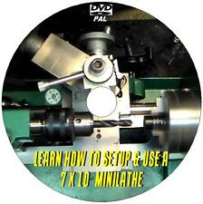 LEARN HOW TO OPERATE A MINI LATHE MACHINE SKILLS  & TECHNIQUES VIDEO DVD NEW