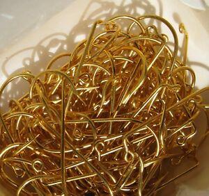 Mustad Size 4/0 Aberdeen Ex. Short Shank Hooks Gold Plated Hooks 100 Pieces