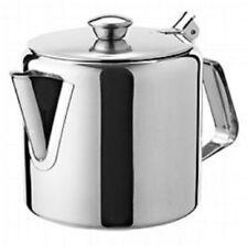 STAINLESS STEEL 16OZ TEA POT COFFEE KITCHEN FLIP LID HANDLE RESTAURANT HOTEL NEW