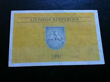 0.50 Talonas 1991 - Lietuvos Respublika (Lithuania)  BANKNOTES !!!