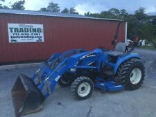 2005 New Holland TC33DA 4X4 Hydro Compact Tractor w/ Loader & Belly Mower