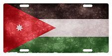 JORDAN Flag Custom License Plate Arab Emblem Fuzzy Version
