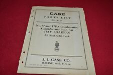 Case Tractor 17 17Pa Hay Loaders Parts Book Manual Yabe14