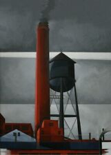 Chimney and Tower, 1931, CHARLES DEMUTH, Modernist, Impressionist Art Poster