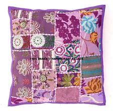 "16"" Purple Patchwork Decorative Sofa Throw Pillow Cushion Cover Indian Bohemian"