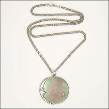 Abalone Shell Luna Y Estrella Collar De Plata De Ley-China