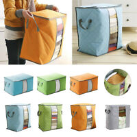 US New Foldable Clothes Blanket Quilt Closet Sweater Storage Bag Organizer Box